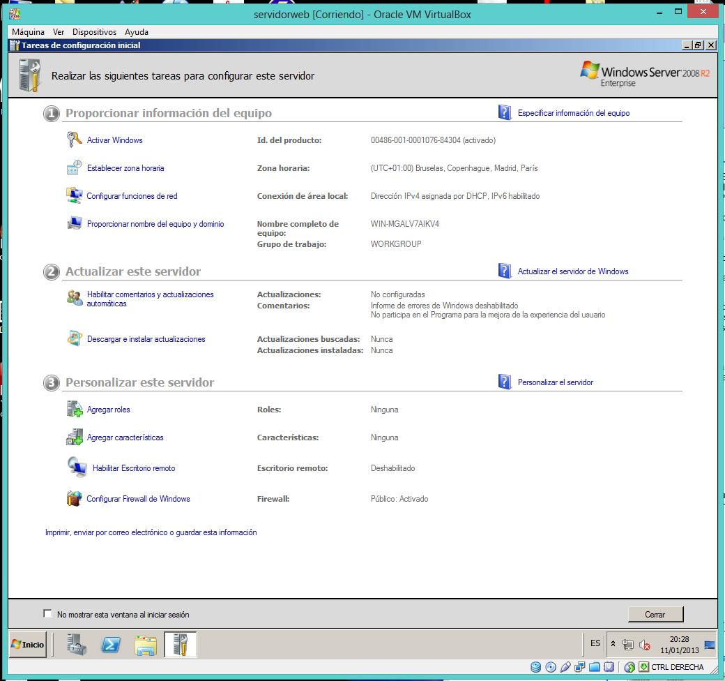 Creacion de servidor web IIS, FTP, SSL y despues una de APACHE parte ...