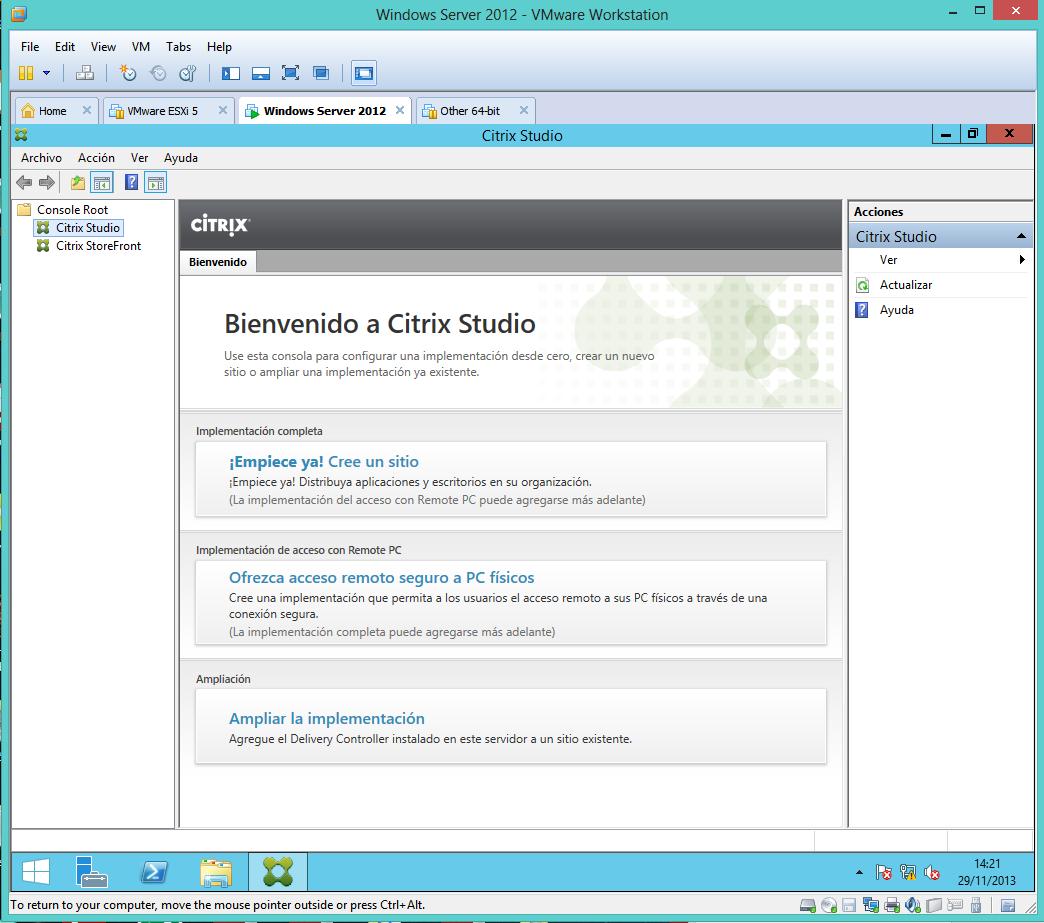 Una de Virtualización…montando un Citrix Xen desktop 7 (parte 1º ...